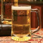 Personalized Glass Groomsman Beer Mug