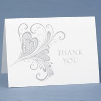 Paisley Heart Thank You Cards (Set of 50)