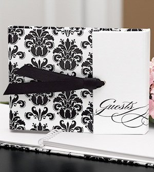 Gatefold Black and White Guest Book image