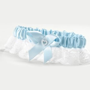 Blue Heart Keepsake Garter image