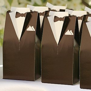 Brown Tuxedo Favor Boxes (Set of 25) image