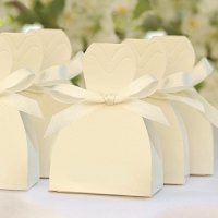 Ivory Gown Brides Favor Boxes (Set of 25)