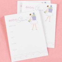 Bridal Shower Gifts Invitations (25 Pack)