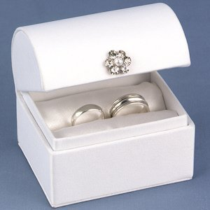 Treasure Chest Wedding Ring Boxes (Black or White) image