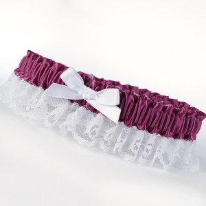 Purple Ribbon and Lace Garter image