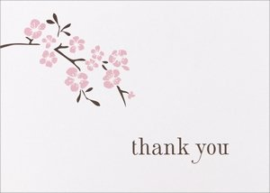 Cherry Blossom Thank You Cards (50 Pack) image