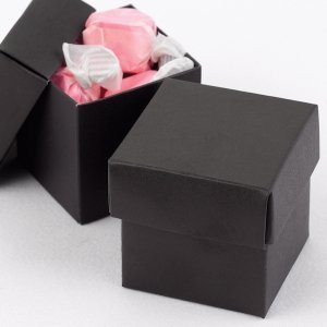 Mix and Match Two Piece Black Favor Boxes (Set of 25) image