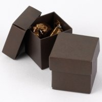 Mix and Match Two Piece Mocha Brown Favor Boxes (Set of 25)