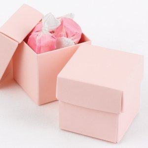 Mix and Match Two Piece Blush Pink Favor Boxes (Set of 25) image