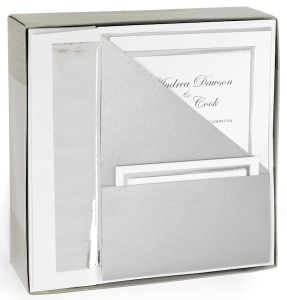 Target Wedding Invitations: Silver Shimmer Printable Wedding Invitation Kit (Set Of 25