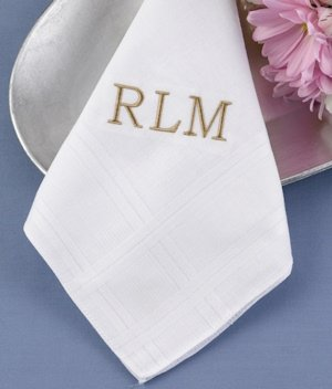 Classic Initial Hanky image