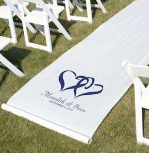 Linked Hearts Customized Aisle Runner (Many Colors) image
