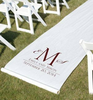 Personalized Monogram Aisle Runner (Many Ink Colors) image