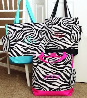 Embroidered Zebra Tote Bag (3 Colors) image