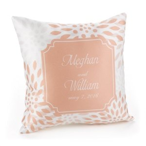 Personalized Open Flower Pillow image