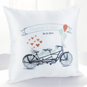 Personalized Tandem Bike Pillow image