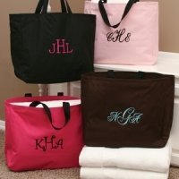 Personalized Tote Bags for Bridesmaids (8 Colors)