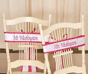 Personalized Wedding Chair Sashes image