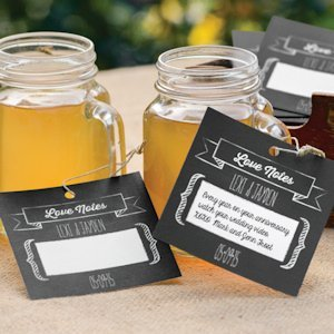 Personalized Chalkboard Style Wish Tags image