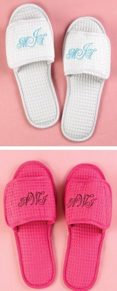 Monogrammed Spa Slippers (2 Colors) image