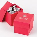 Mix and Match Personalized Fuchsia Favor Boxes (Set of 25)