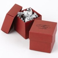 Mix and Match Personalized Claret Red Favor Box (Set of 25)