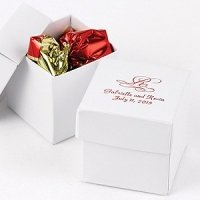 Mix and Match Personalized White Favor Boxes (Set of 25)