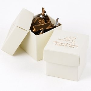Mix and Match Personalized Ivory Favor Boxes (Set of 25) image