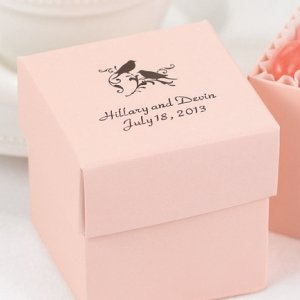 Mix and Match Personalized Pink Blush Favor Box (Set of 25) image