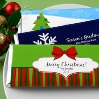 Personalized Holiday Chocolate Bars (24 Designs)