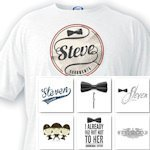 Personalized Groomsman T-Shirts (8 Designs)