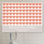For the Love of Hearts Wedding Signature Canvas