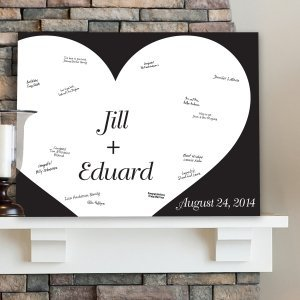 Personalized Shadow of Love Guest Book Canvas image