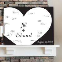 Personalized Shadow of Love Guest Book Canvas