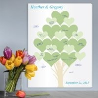 Branches of Love Wedding Tree Guest Book Canvas