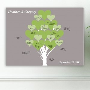 Blooming Hearts Wedding Signature Canvas image