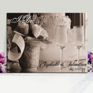 Personalized I Do Wedding Canvas Print image