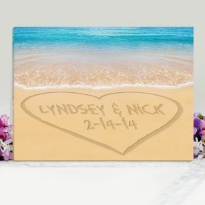 Personalized Caribbean Sea Wedding Canvas Print image