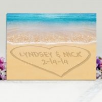 Personalized Caribbean Sea Wedding Canvas Print