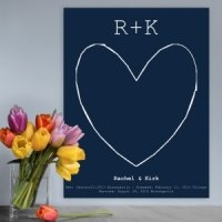 Our Story Guestbook Keepsake Canvas (3 Colors)