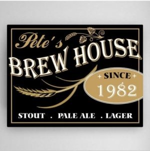 Personalized Brew House Canvas Print image