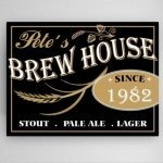 Personalized Brew House Canvas Print