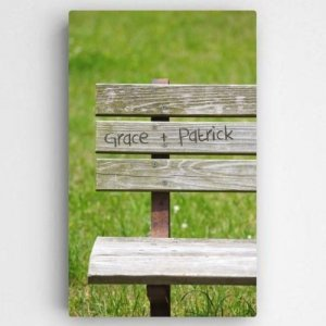 Personalized Romantic Park Bench Canvas image