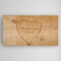 Personalized Cupid's Arrow Canvas
