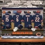 Personalized NFL Locker Room Canvas Print