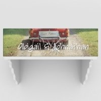 Personalized Just Married Car Canvas (2 colors)