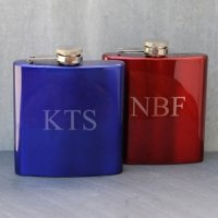Personalized Metallic Flask - 2 Colors