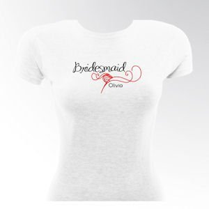 Personalized Black Tie Bridesmaid & Bride T-Shirts image