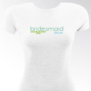 Personalized Lovely Lime Bridesmaid & Bride T-Shirts image