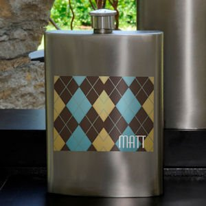 Argyle Guys Party Flask image